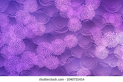 Light Purple vector natural elegant pattern. Blurred decorative design in Indian style with flowers. A completely new design for your business.