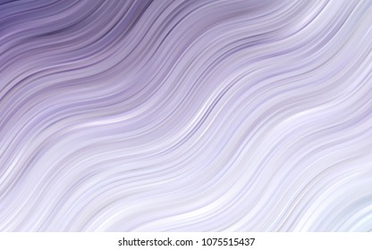 Light Purple vector pattern with lines, ovals. Geometric illustration in marble style with gradient.  Textured wave pattern for backgrounds.