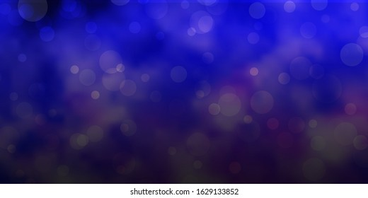 Light Purple vector pattern with spheres. Abstract decorative design in gradient style with bubbles. Pattern for wallpapers, curtains.
