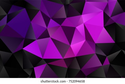 Light Purple vector polygon abstract pattern. Creative illustration in halftone style with gradient. Brand-new design for your business.