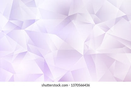 Light Purple vector polygonal pattern. A sample with polygonal shapes. Best triangular design for your business.