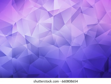 Light Purple vector polygonal template. Colorful illustration in abstract style with gradient. Brand-new design for your business.