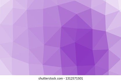 Light Purple vector shining triangular template. Geometric illustration in Origami style with gradient. Textured pattern for background.