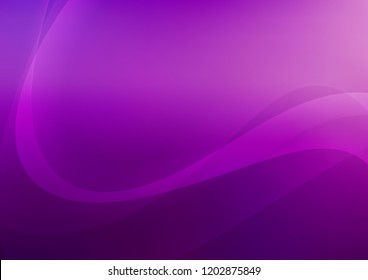 Light Purple vector template with lines, ovals. Modern gradient abstract illustration with bandy lines. The elegant pattern for brand book.