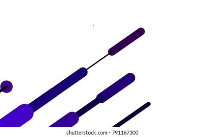Light Purple vector template with repeated sticks. Shining colored illustration with rounded stripes. The pattern can be used for medical ad, booklets, leaflets
