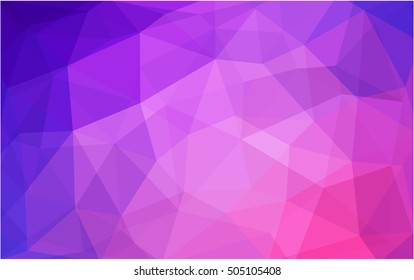 Light purple-pink abstract polygonal pattern. An elegant bright illustration with gradient. The best triangular design for your business.
