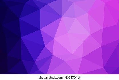 Light purple-pink polygonal illustration, which consist of triangles. Triangular design for your business. Geometric background in Origami style with gradient.