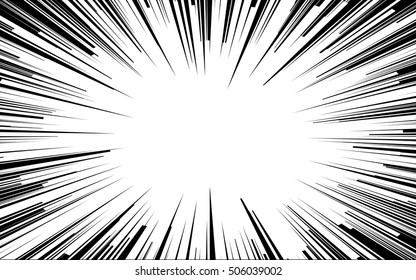 Manga Comic Book Flash Speed Lines Vector Images Over 100