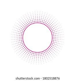 Light rays frame with purple dots. Shine burst background. radiant spark. Vector illustration. Sun beam ray sunburst background.