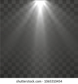 light rays wide top to bottom transparent vector eps 10