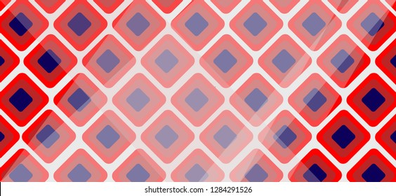 light Red, blue vector texture with disks. Blurred box on abstract background with colorful gradient. Completely New design for ad, poster, banner of your website