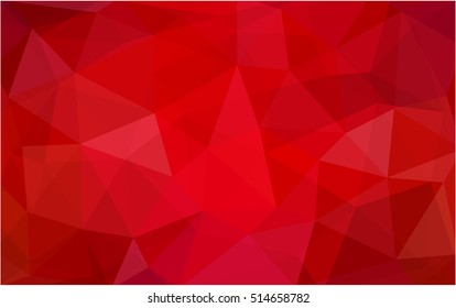Light red blurry triangle pattern. Shining colored illustration in a brand-new style. Triangular pattern for your business design.