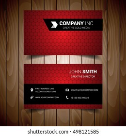 Light Red Business Card