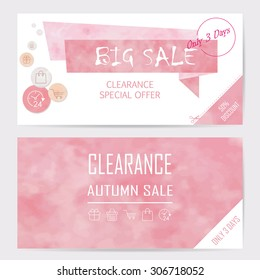 light red pink banner on mid year sale