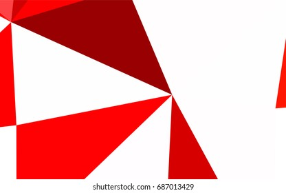 Light Red vector abstract colorful background, which consist of triangles. Pattern with colored triangles on white background.