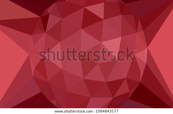 Light Red vector abstract mosaic background with a diamond. Illustration in Origami style with gradient.  Pattern for a brand book's backdrop.