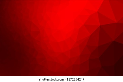 dark red vector triangle mosaic template stock vector royalty free