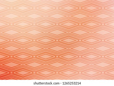 Light Red vector backdrop with lines, cubes. Glitter abstract illustration with colorful lines, rhombuses. Backdrop for TV commercials.