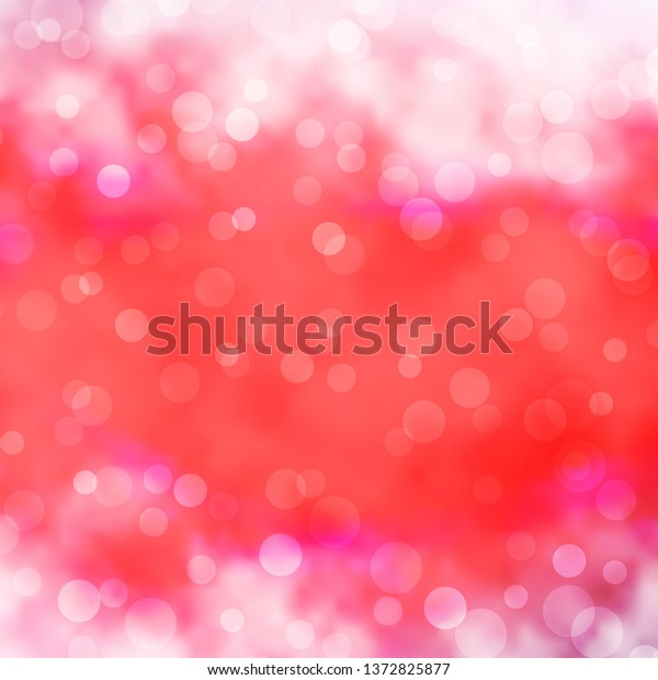 Light Red vector background with circles. Colorful illustration with gradient dots in nature style. Design for posters, banners.