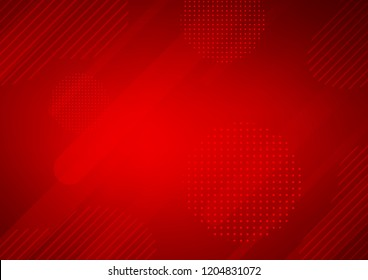 Light Red vector background with straight lines and dots. Capsules on blurred abstract background with gradient dots. The template can be used as a background.