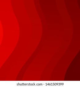Light Red vector background with wry lines. Abstract illustration with gradient bows. Pattern for ads, commercials.