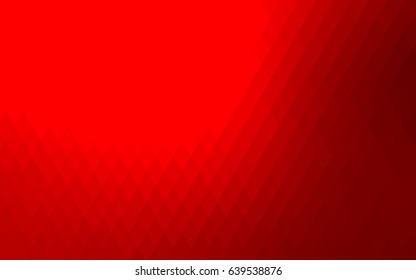 Light Red vector blurry rectangular background. Geometric background in square style with gradient. The pattern can be used for brand-new background.
