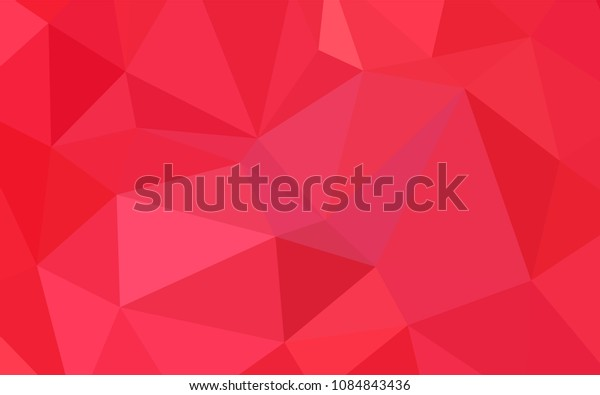 Light Red vector blurry triangle template. Triangular geometric sample with gradient.  Triangular pattern for your business design.