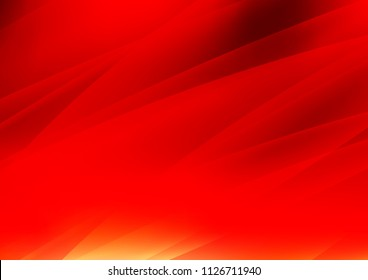 Light Red vector cover with long lines. Shining colored illustration with narrow lines. The template can be used as a background.