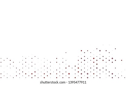 Light Red vector layout with bright stars. Modern geometrical abstract illustration with stars. The pattern can be used for new year ad, booklets.