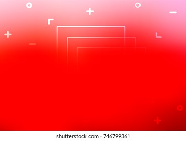 Light Red vector natural abstract pattern. Blurred decorative design in Indian style with Zen tangles. The pattern can be used for heads of websites and designs.