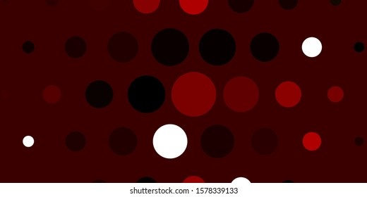 Light Red vector pattern with spheres. Glitter abstract illustration with colorful drops. Pattern for business ads.