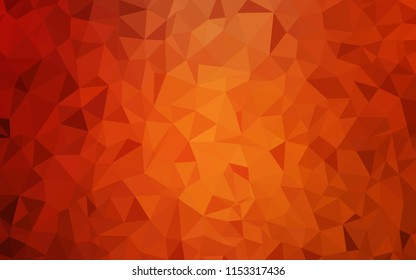 Light Red vector polygon abstract layout. A sample with polygonal shapes. Completely new template for your banner.