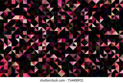 Light Red vector polygon abstract pattern. An elegant bright illustration with gradient. The best triangular design for your business.
