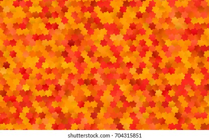 Light Red vector polygonal illustration, which consist of hexagons. Hexagonal pattern for your business design. Geometric background in Origami style with gradient.