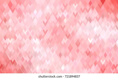 Light Red vector polygonal illustration, which consist of rectangles. Rectangular pattern for your business design. Geometric background in Origami style with gradient.