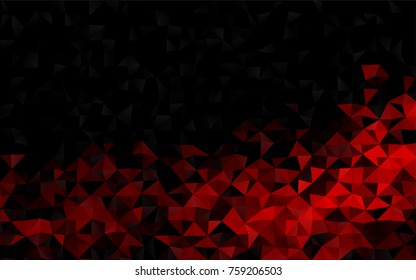 Light Red vector polygonal template. A completely new color illustration in a vague style. The best triangular design for your business.