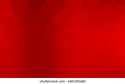 Light Red vector shining triangular background. A vague abstract illustration with gradient. Completely new template for your business design.