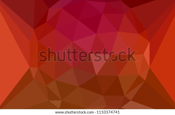 Light Red vector shining triangular backdrop with a gem in a centre. Illustration in Origami style with gradient. Triangular pattern for your design.
