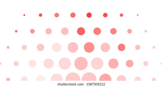 Light Red vector template with circles. Abstract illustration with colorful spots in nature style. New template for a brand book.