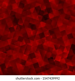 Light Red vector texture with poly style with cubes. Abstract gradient illustration with triangles, cubes. Pattern for booklets, leaflets
