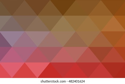 Light red, yellow low poly background. A vague abstract illustration with gradient. The completely new template can be used for your brand book.