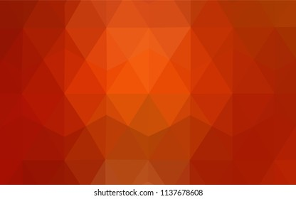 Light Red, Yellow vector abstract polygonal background. Modern abstract illustration with triangles. A new texture for your web site.