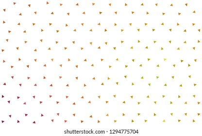 Light Red, Yellow vector  abstract polygonal pattern. Creative geometric illustration in Origami style with gradient. Best triangular design for your business.