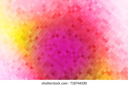 Light Red, Yellow vector abstract curved template. An elegant bright illustration with gradient. The best curved design for your business.