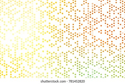 Light Red, Yellow vector red banner with set of circles, dots. Donuts Background. Creative Design Template. Technological halftone illustration.
