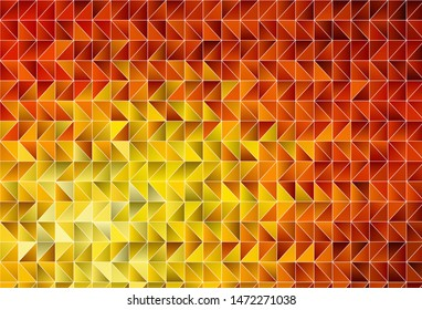 Light Red, Yellow vector low poly texture. Creative geometric illustration in Origami style with gradient. Textured pattern for your backgrounds.