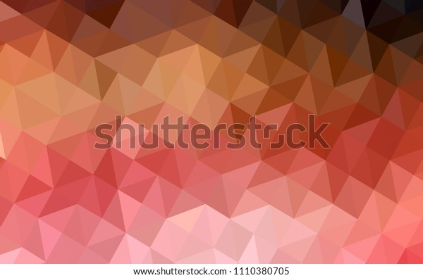 Light Red, Yellow vector polygonal template. Elegant bright polygonal illustration with gradient. Brand new design for your business.
