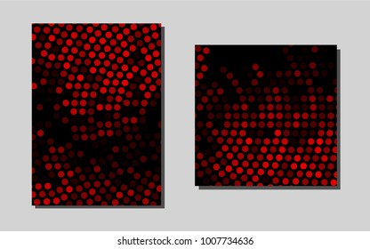 Light Redvector background for presentations. Booklet with textbox on colorful abstract background. Pattern for ads, leaflets, labels of your business.