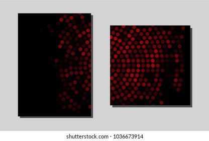 Light Redvector banner for websites. Abstract booklet on colored background with gradient. Pattern for beautiful business cards, folders.