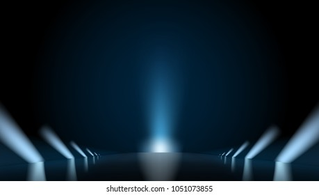 Light Reflection Path And Big Beam. EPS10 Vector